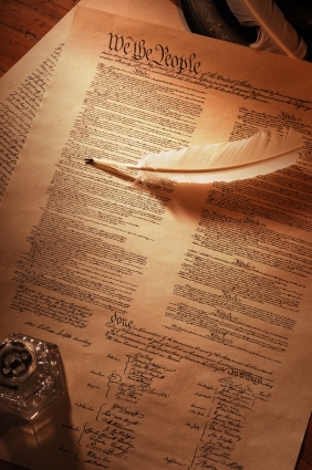 The Constitution With Quill Pen