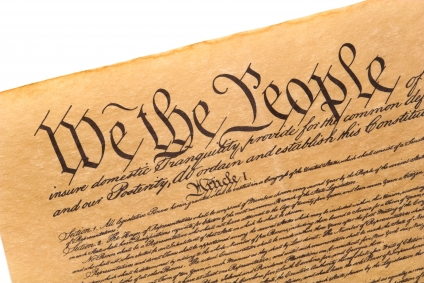 Close up of The Constitution